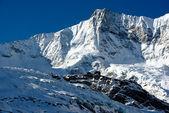 Taeschorn mountain peak with Laengflueh in winter — Stock Photo