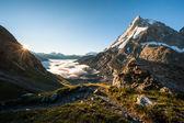 Matterhorn vom schoenbiel-berghütte — Stockfoto