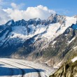 Schoenenbuelhorn and Wannenhorn with aletsch glacier — Stock Photo