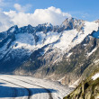 Stock Photo: Schoenenbuelhorn and Wannenhorn with aletsch glacier