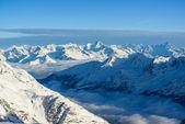 Panorama der schweizer alpen in wintes — Stockfoto