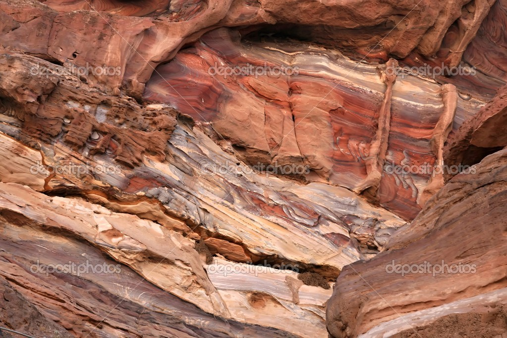Detail of the rock in Petra, Jordan — Stock Photo #14795723