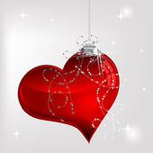Glass heart — Stock Vector