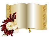 Golden book — Stock Vector
