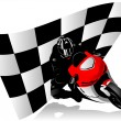Motorcycle racer - Stock Vector