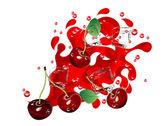 Cherry juice — Stock Vector