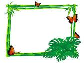 Bamboe frame — Stockvector