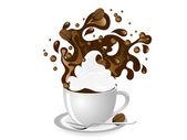 Tazza di caffè — Vettoriale Stock