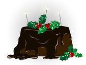 Noel kek — Stok Vektör