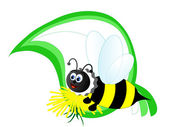 Cartoon bee — Stock Vector