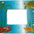 Sea photo frame — Stock Vector