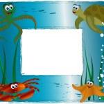 Sea photo frame — Stock Vector