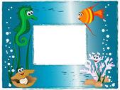 Molduras para fotos do mar — Vetor de Stock