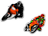 Motorcycle racers — Stock Vector