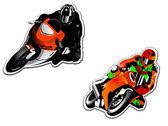 Motorcycle racers — Stock Vector