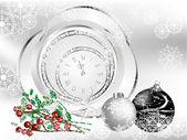 černé vánoce — Stock vektor