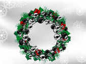 Christmas wreath — Stockvector