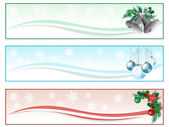 Banners de navidad — Vector de stock