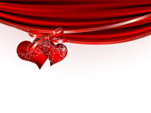 Red hearts — Stockvektor
