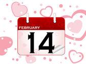 February calendar — Stock Vector