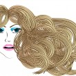 Stock Vector: Blond hair