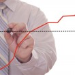 Businessman hand showing graph — Stock Photo #2443850