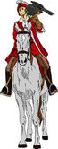 Falconer on horse — Stock Vector