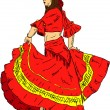 Royalty-Free Stock Vector Image: Woman  Flamenco dancer