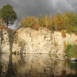Flooded stone quarry — Stock Photo