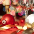 Red and white ornaments as decoration — Stock Photo #14948341