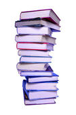 Tall stack of books — Stock Photo