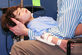 Little boy in Emergency Room — Stock Photo