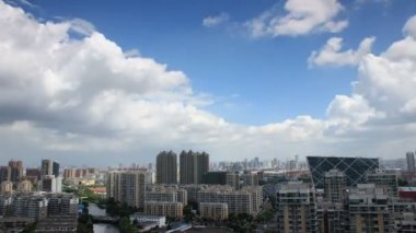 Ningbo City skyline time lapse.Ningbo,Zhejiang,China.Qian hu North Road. — Stock Video