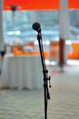 Microphone ready for speach — Stock Photo