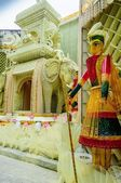 Goddess Durga, artwork and decoration, Durga Puja Festival, Kolk — Stock Photo