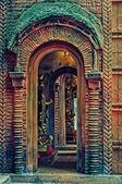Temporária estrutura, pandal e ídolo de deusa durga, durga wors — Fotografia Stock