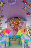 Goddess Durga, artwork and decoration, Durga Worship Festival, K — Stock Photo