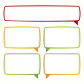 Colorful speech bubble frames. — Stock Vector