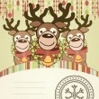 Christmas background card. — Stock Vector #12184928