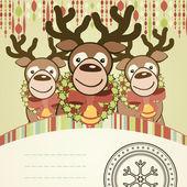 Tarjeta de navidad fondo. — Vector de stock