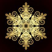 карта с рождество снежинки — Cтоковый вектор