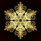 Card with christmas snowflake — Stock vektor