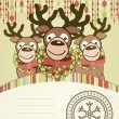 Christmas background card. — Stock Vector
