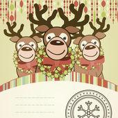 Christmas background card. — Stock Vector