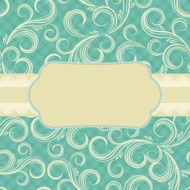 Ornate floral background. Cover design.