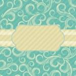 Ornate floral background. Cover design. — Stock Vector