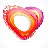 Trendy web banner in form of a stylized heart. — Stock Vector