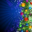 Christmas Background with bright Christmas tree balls. — Grafika wektorowa