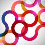 デザイン要素と抽象的な背景 — ストックベクタ