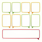 Colorful speech bubble frames. Labels in the form — Stock Vector